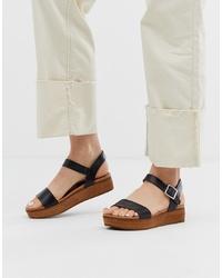 efed1e8e871 Women's Black Flat Sandals by Steve Madden   Women's Fashion ...