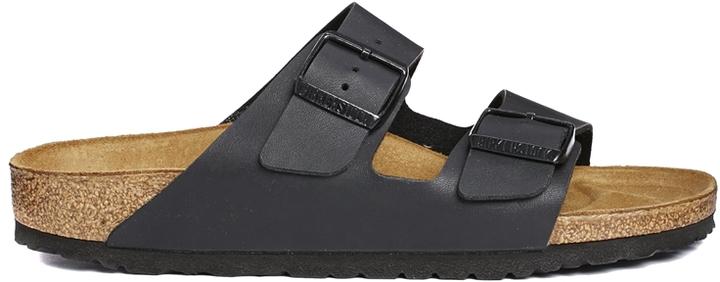 Arizona Flat Sandals89 Narrow Flor Birko Fit Black Birkenstock lJ1cKF