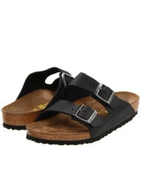 Birkenstock Arizona Oiled Leather Sandals Black Oiled Leather