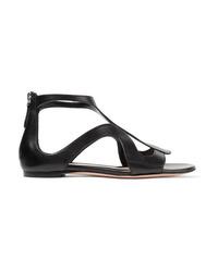 Alexander McQueen Cutout Leather Sandals
