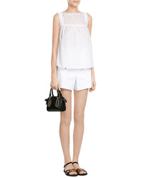 Marc by Marc Jacobs Embossed Leather And Suede Flat Sandals