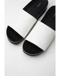 ef7769cad7f6 ... Forever 21 Faux Leather Platform Slides