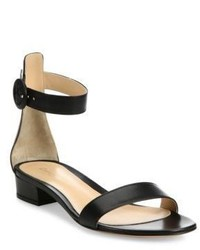 Gianvito Rossi Leather Ankle Strap Flat Sandals