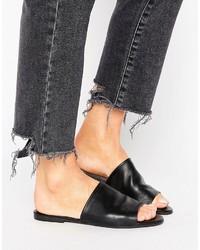 Oasis Leather Look Sliders