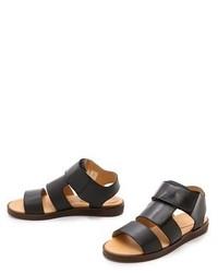 MM6 Leather Sandals SucP2QA