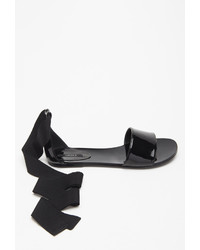 4072e7dd7 ... Forever 21 Patent Faux Leather Wrap Sandals ...