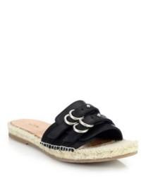 Rag and Bone Rag Bone Jules Leather Espadrille Slide Sandals