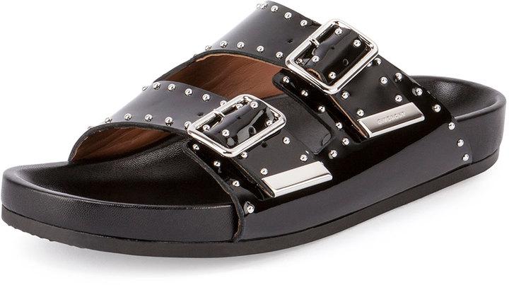 d7690c979db3 ... Givenchy Studded Leather Sandal Slide Black ...