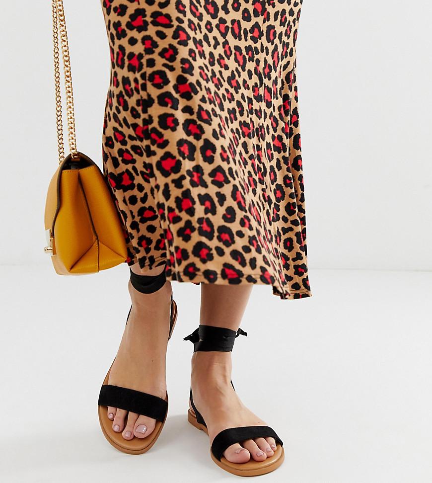 ASOS DESIGN Wide Fit Flawless Tie Leg