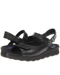 Wolky Pichu Sandals Black Leather