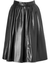 DSquared 2 Leather Midi Skirt