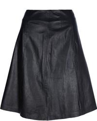 Diane von Furstenberg Riley Flowy Leather Skirt | Where to buy ...