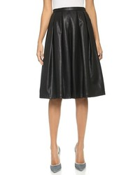 Blaque Label Vegan Leather Full Skirt