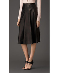 Burberry Lambskin Skirt
