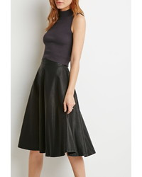 Forever 21 Contemporary Faux Leather A Line Skirt