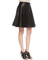 Diane von Furstenberg Riley Flowy Leather Skirt