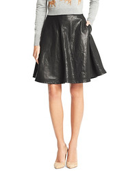 Diane von Furstenberg Riley Leather Full Skirt