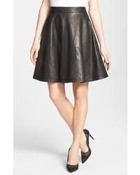 Diane von Furstenberg Riley Leather Skirt