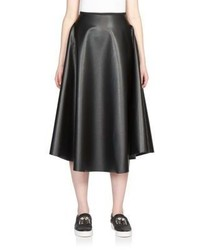 Lanvin Faux Leather Flared Skirt