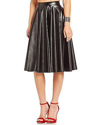 Soprano Faux Leather Midi Skirt
