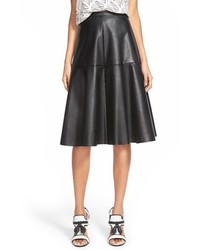 J.o.a. Faux Leather Midi Skirt