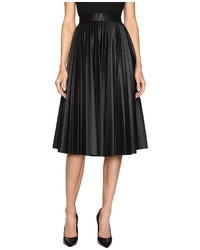 Faux leather pleated skirt medium 6469393