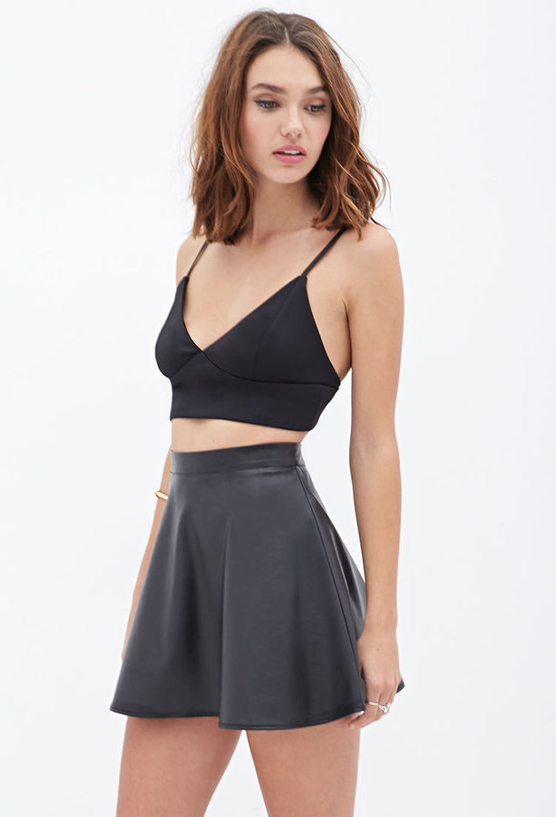 Forever 21 Faux Leather Skater Skirt | Where to buy & how to wear
