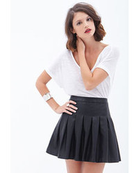 Forever 21 Contemporary Pleated Faux Leather Skirt
