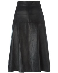 Forte Forte Midi Leather Skirt