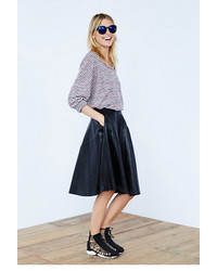 Free People Blank Nyc Vegan Leather Midi Skirt
