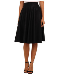 French Connection Pu Flared Skirt 73cxa