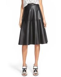 J.o.a. Faux Leather Midi Skirt