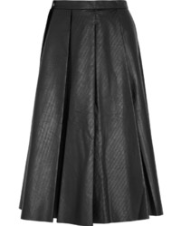 J.W.Anderson Pleated Ribbed Faux Leather Skirt