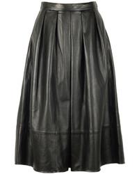 Tibi Leather Full Skirt 02