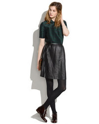 Madewell Leather Knife Pleat Skirt