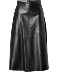 Valentino Leather Midi Skirt
