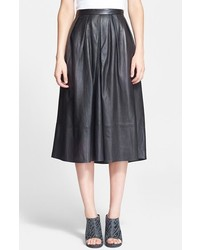 Tibi Leather Skirt