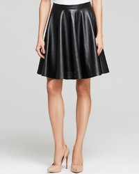 Lucy Paris Midi Skirt Perforated Faux Leather