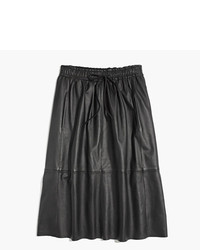 Madewell Drawstring Leather Skirt