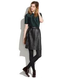 Madewell Leather Knife Pleat Skirt