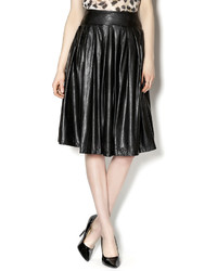 Ryu Midi Leather Skirt