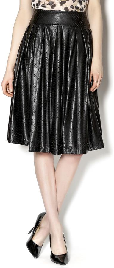 Ryu Midi Leather Skirt