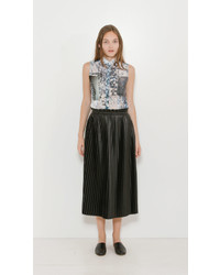 MM6 MAISON MARGIELA Faux Leather Pleated Skirt