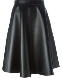 MSGM Faux Leather Full Skirt