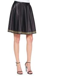 Tamara Mellon Studded Leather Circle Skirt