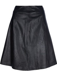 Theyskens' Theory A Line Leather Skirt