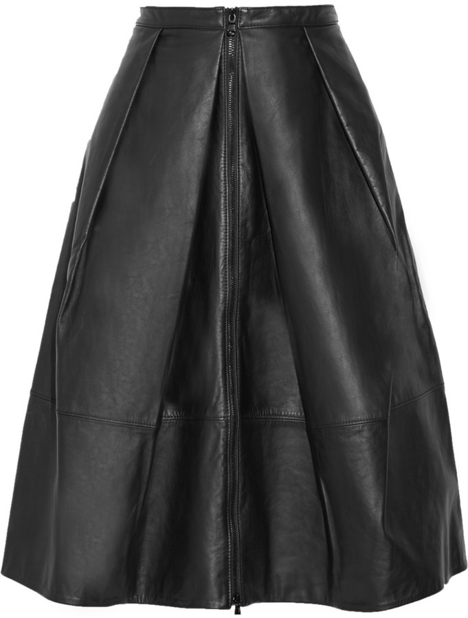 tibi pleated leather skirt where to buy how to wear