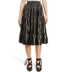 Tiered leather skirt medium 6469392