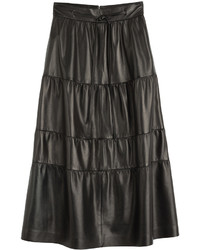 Valentino Midi Skirt In Leather