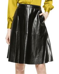 Vince Camuto Leatherette Midi Skirt